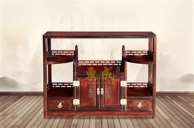 东成红木茶水柜