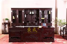 东成红木三组合书柜