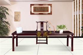 东成红木2.68米圆包圆画案