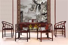 东成红木1.98米圆包圆茶台