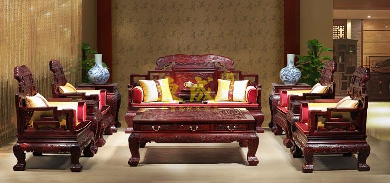 东成红木大象宝座沙发