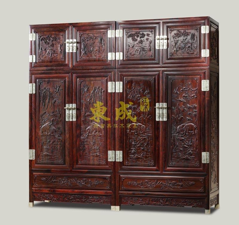 东成红木大象宝座衣柜