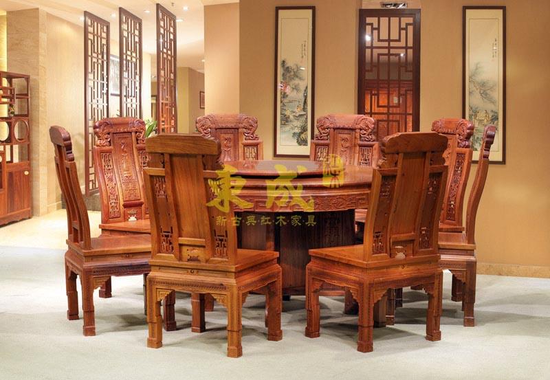 东成红木1.78米豪华大象圆台